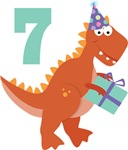 7th Birthday Dinosaur Kids Tee Shirts