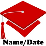 Personalized Red School Colors Graduation Apparel