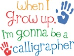 Future Calligrapher Kids T-shirts