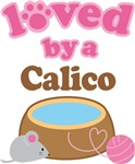 Loved By A Calico Tshirt Gifts