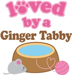 Loved By A Ginger Tabby Tshirt Gifts