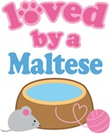 Loved By A Maltese Cat T-shirts