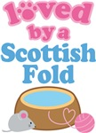 Loved By A Scottish Fold Cat T-shirts