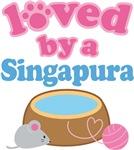 Loved By A Singapura Cat T-shirts