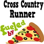 Cross Country Runner Fueled By Pizza Tshirts