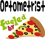 OPTOMETRIST Funny Fueled By Pizza T-shirts