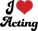 I Heart Acting T-shirts and Gifts