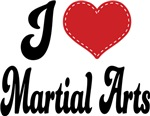 I Heart Martial Arts T-shirts and Gifts