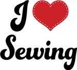I Heart Sewing T-shirts and Gifts