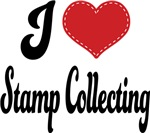 I Heart Stamp Collecting T-shirts and Gifts