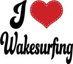 I Heart Wakesurfing T-shirts and Gifts