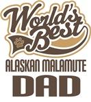 Alaskan Malamute Dad (Worlds Best) T-shir