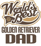 Golden Retriever Dad (Worlds Best) T-shirts