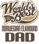 Norwegian Elkhound Dad (Worlds Best) T-shirts