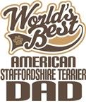 American Staffordshire Terrier Dad Tee Shirts