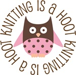 KNITTING IS A HOOT OWL TEES AND GIFTS