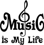 Music Is My Life Quote Tee Shirts