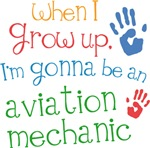Future Aviation Mechanic Kids T-shirts