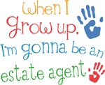 Future Estate Agent Kids T-shirts