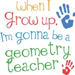 Future Geometry Teacher Kids T-shirts