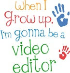 Future Video Editor Kids T-shirts