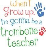 Future Trombone Teacher Kids Music Apparel