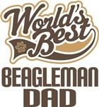 Beagleman Dad (Worlds Best) T-shirts