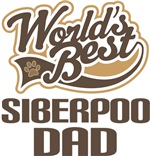 Siberpoo Dad (Worlds Best) T-shirts