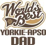 Yorkie-Apso Dad (Worlds Best) T-shirts