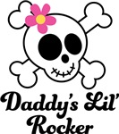 Daddy's Little Rocker Cute Skull T-shirts