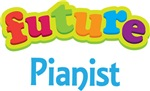 Future Pianist Kids Music T-shirts