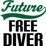 Future Free Diver Kids T Shirts