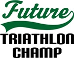 Future Triathlon Champ Kids T Shirts