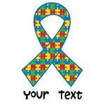 Personalized Autism Puzzle Ribbon