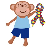 Autism Spectrum Disorder Monkey T-shirts