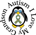 Autism I Love My Grandson Penguin