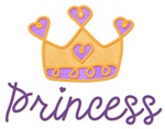 Princess with purple and gold tiara