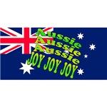 Joy Joy Joy Australian Christmas Cards, Tees, Mugs