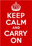 70th Birthday Gifts, Keep Calm & Carry On!