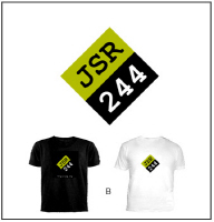 B) Custom Black or White T-Shirt w/ (JSR Diamond)