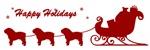 Bulldog Christmas Sleigh