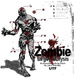 Battle the Undead! This zombie t-shirt will show you where to shoot, and where not to shoot!  Zombie Target Analysis will allow you to share with people where to shoot in the case of a Zombie attack.