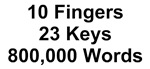 TEXT 10 Fingers 23 Keys 800000 Words