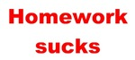Homework sucks - red