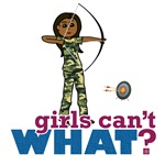 Camouflage Archery Girl - Dark