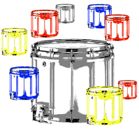Snare Drum in Color T-shirts & Gifts