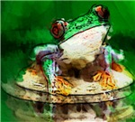 Frog Watercolor Painting T-shirts & Gifts
