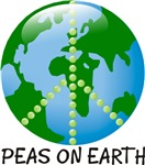 Peace Peas on Earth Christmas T-shirts & Gifts