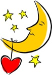 Moon and Heart Love T-shirts & Gifts