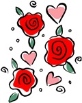 Hearts and Roses T-shirts & Gifts